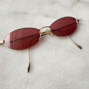 Serengeti Vermillion Glass Sunglasses w/ Gold Rim